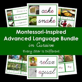 Montessori-inspired Advanced Language Bundle in Cursive