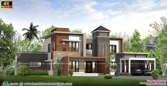 5 bedroom modern contemporary home rendering