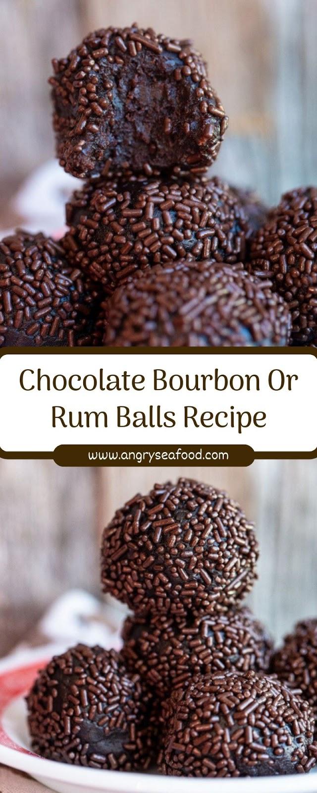 Chocolate Bourbon Or Rum Balls Recipe