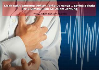 masukkan stent (belon) ke dalam jantung