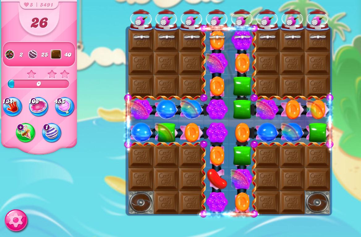 Candy Crush Saga level 5491