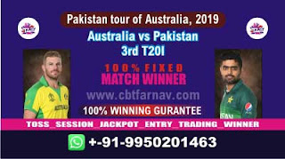 3rd T20I Pak vs Aus Match Prediction Today Pakistan tour of Australia, 2019