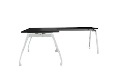 bürosit,burosit,inspira,l masa,çalışma masası,ofis masası,operasyonel masa,metal ayaklı