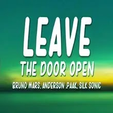 Leave The Door Open Song Lyrics