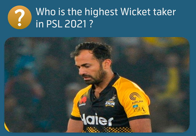 Who is the highest Wicket taker in PSL 2021 ?