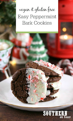 Gluten Free Vegan Peppermint Bark Cookies Recipe