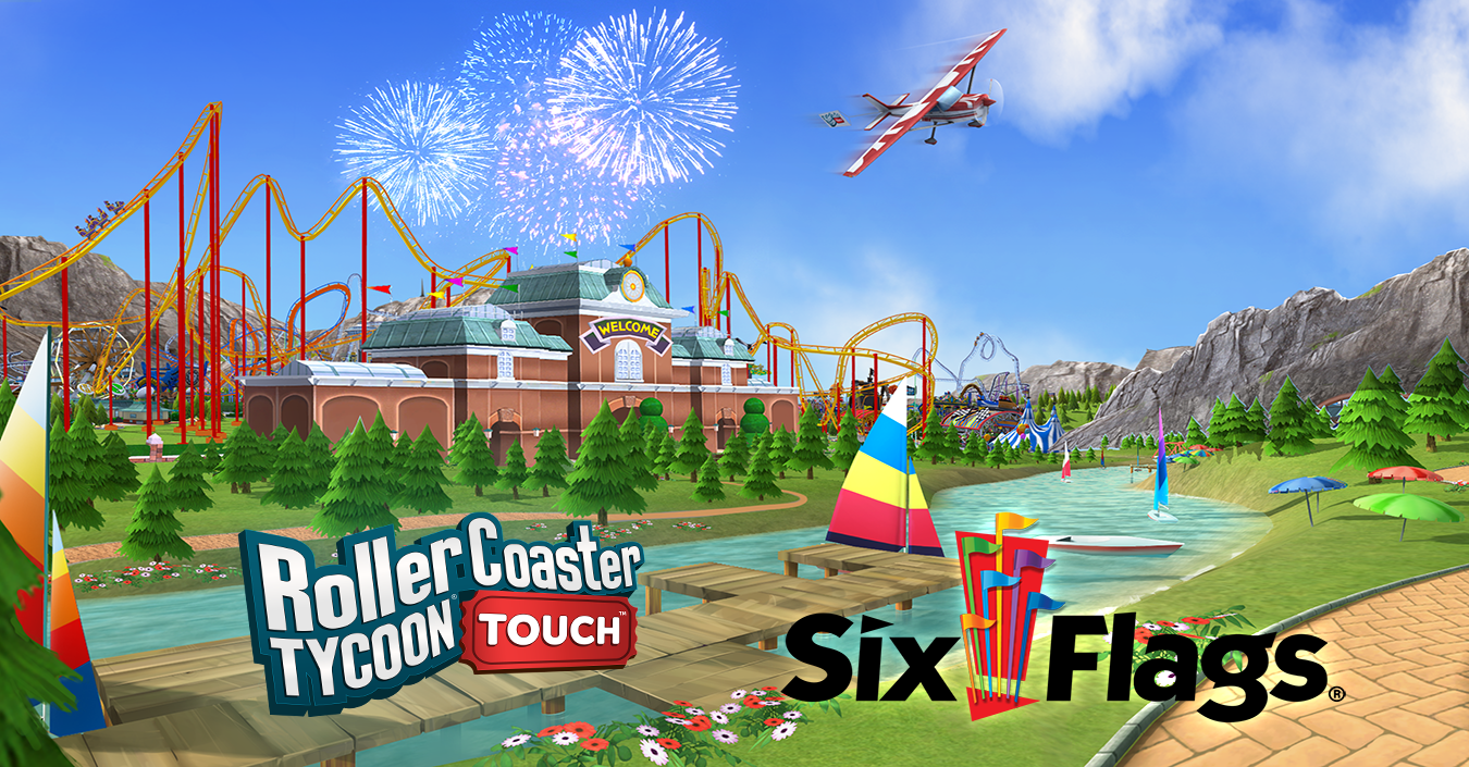 The Edge: Atari Adds Six Flags Branded Real-World Theme Park Attractions to RollerCoaster Tycoon® Touch™