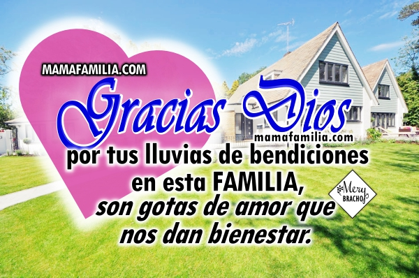 Linda oración de acción de gracias por la familia, por hijos, oraciones de agradecimiento con imágenes cristianas, oración de una madre por Mery Bracho