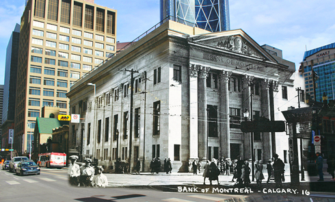 calgary alberta ghosting archival images bank of montreal