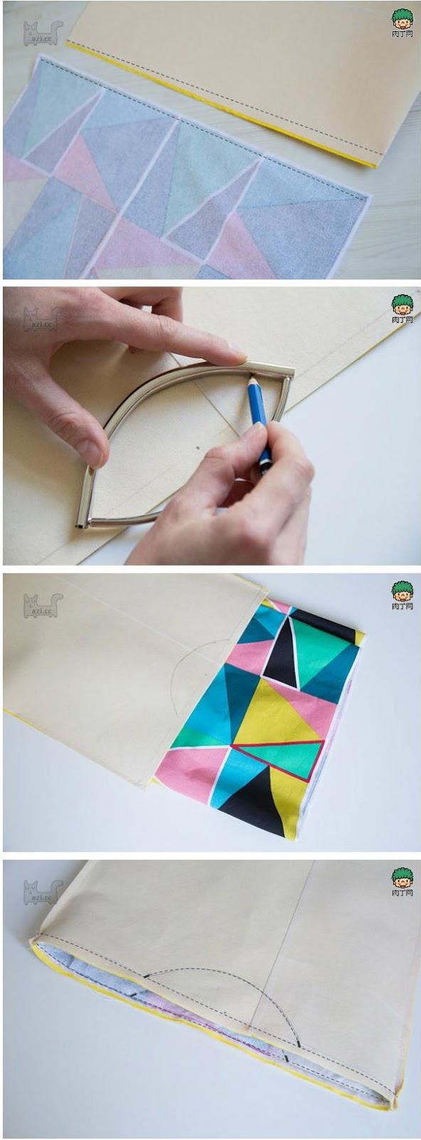 DIY Clutch Tutorial. Tablet Cases.  Clutch bag for tablet