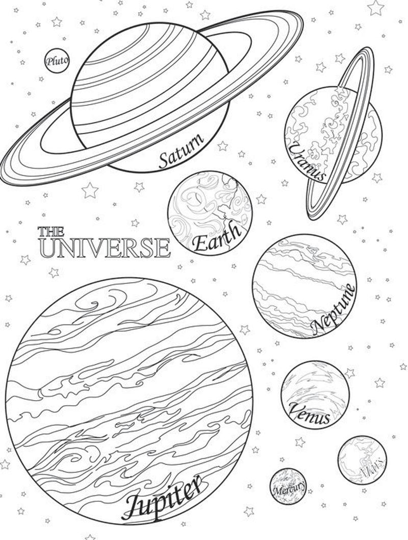 Gambar mewarnai planet 3
