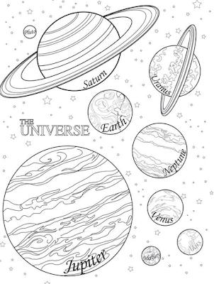 Gambar mewarnai planet - 3
