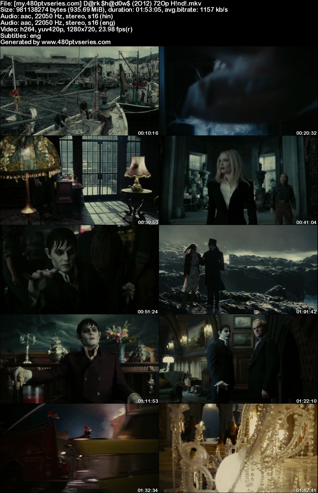 Watch Online Free Dark Shadows (2012) Full Hindi Dual Audio Movie Download 480p 720p Bluray