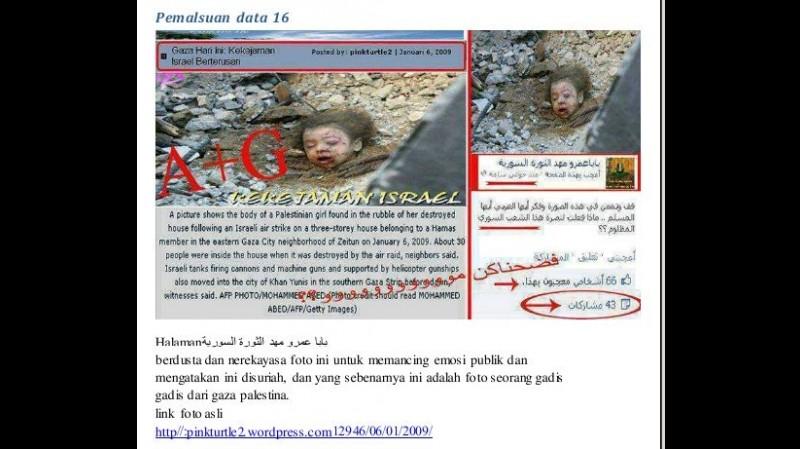 Foto hoax yang menyebutkan di Aleppo, Suriah