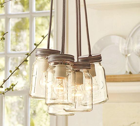 Mason Jar Pendant Light Pottery Barn