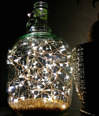 fairy star lights in bottle