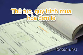 Thủ tục, quy trình mua hóa đơn lẻ cơ quan thuế mới nhất