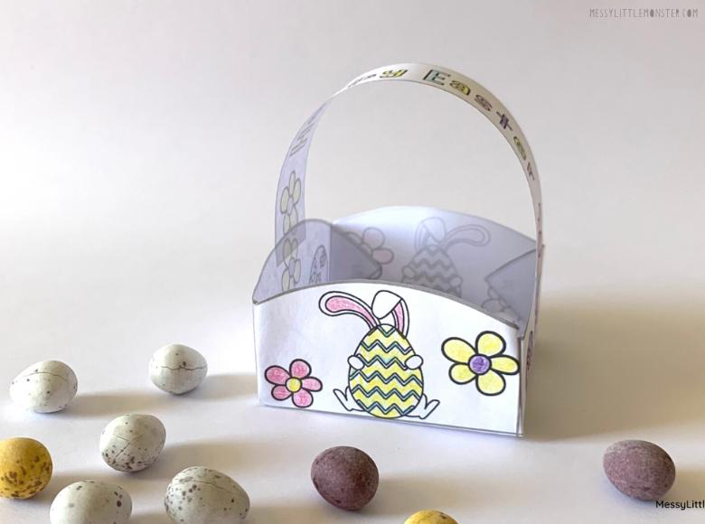Printable Easter Basket craft for kids