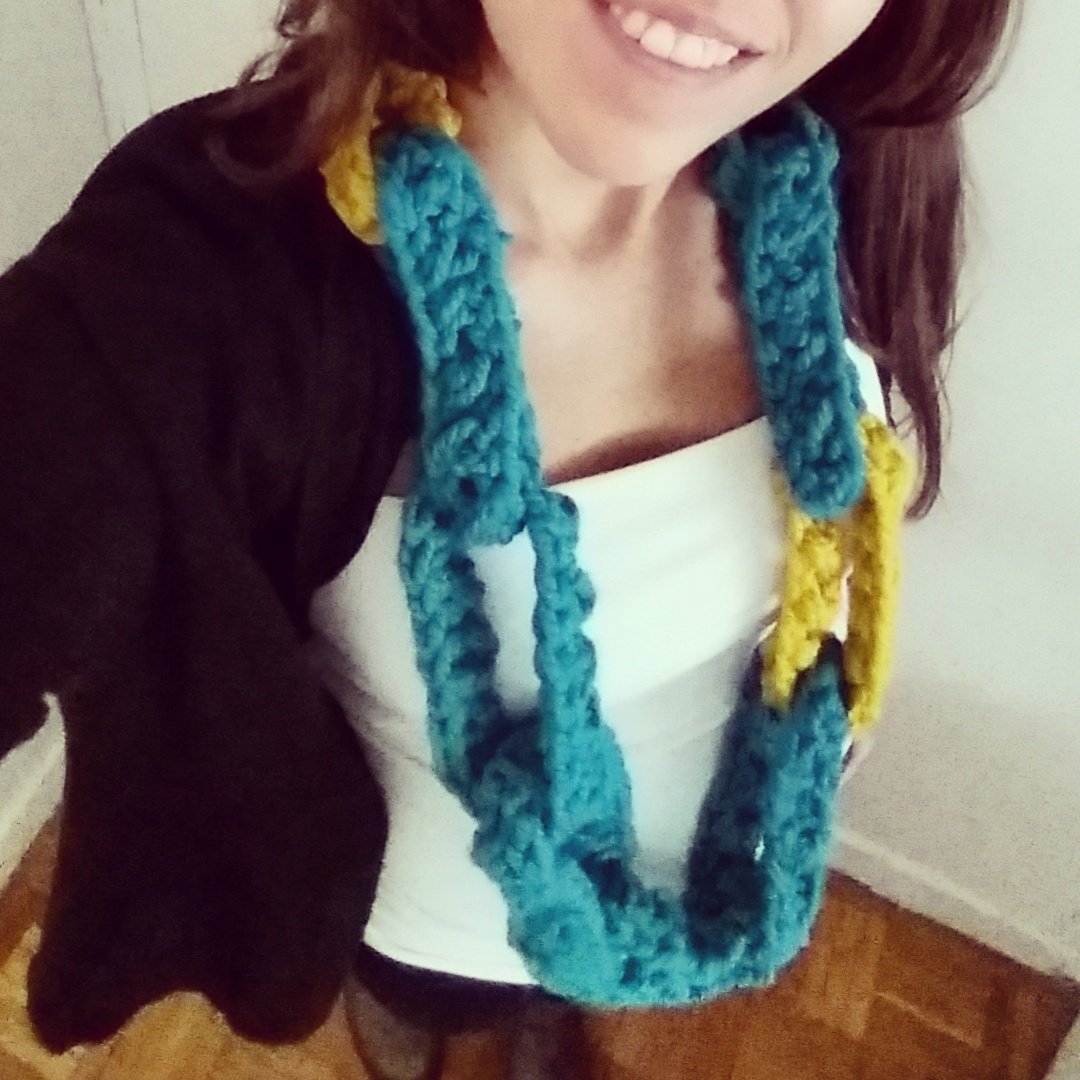cuello bufanda tejido a crochet - ahuyama crochet