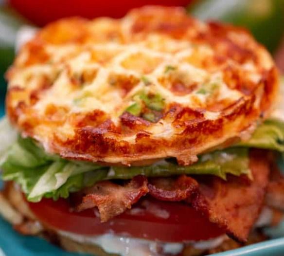 KETO BLT CHAFFLE SANDWICH #diet #healthy