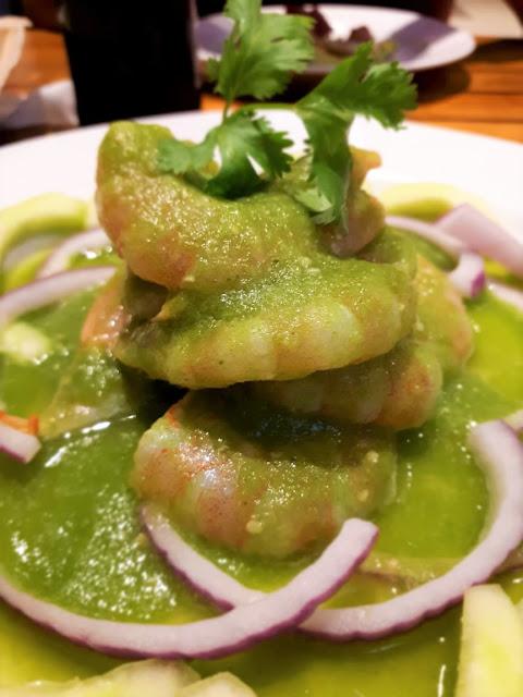 Aguachile de camarón estilo Jalisco.