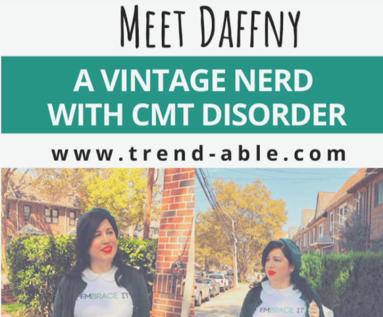 A Vintage Nerd, CMT, Charcot Marie Tooth Disease, Living Disable, Living with a disability, Disability and Fashion