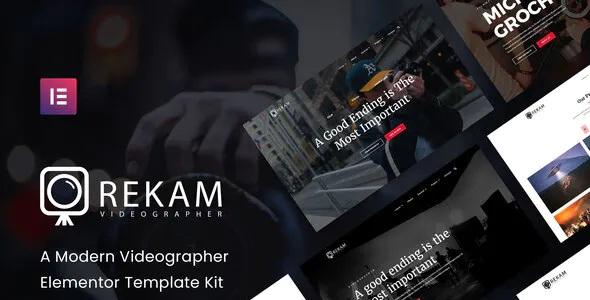 Best Modern Videographer Elementor Template Kit
