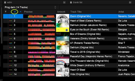 Cara ngurutin lagu di playlist Rekordbox 6, framing