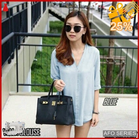 AFO289 Model Fashion Vella Blouse Modis Murah BMGShop