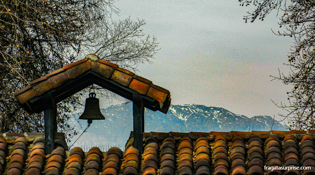 Vista para as montanhas da Vinícola Concha y Toro, Chile