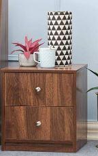 Wakefit Elara Engineered Wood Side Table with Double Drawers