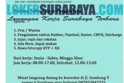 Info Kerja Surabaya Terbaru di Finest Garment Juni 2019