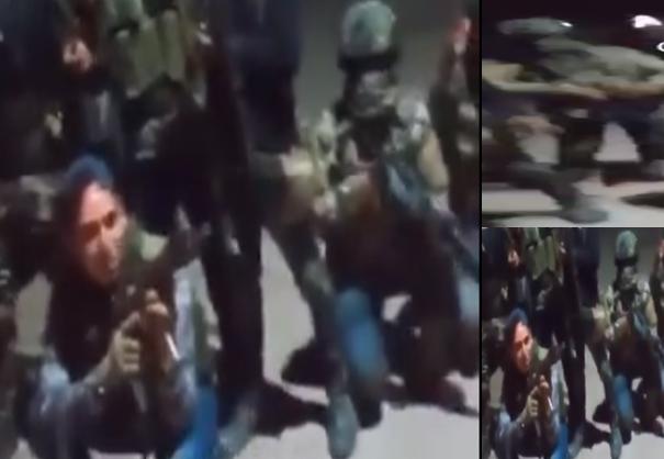 """Video: Aquí andamos toda la gente de """"El Comando 50"""" riéndose y posando con su armas pura Familia Michoacana  a ALV mientras se ríen"""