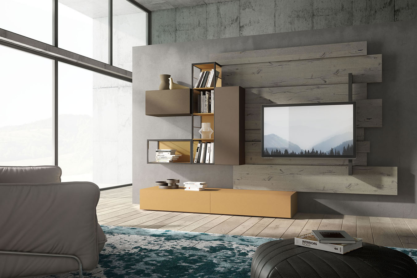 Versatile And Modular Create Your Own Composition Choose Finishes Endless Possibilities For This Modern Italian Wall Unit Furniture System