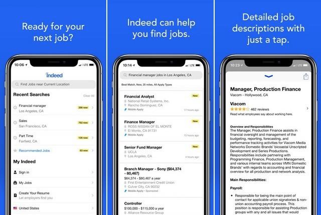 أفضل تطبيق البحث عن الوظائف للايفون