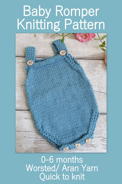 knitting pattern for a simple baby romper