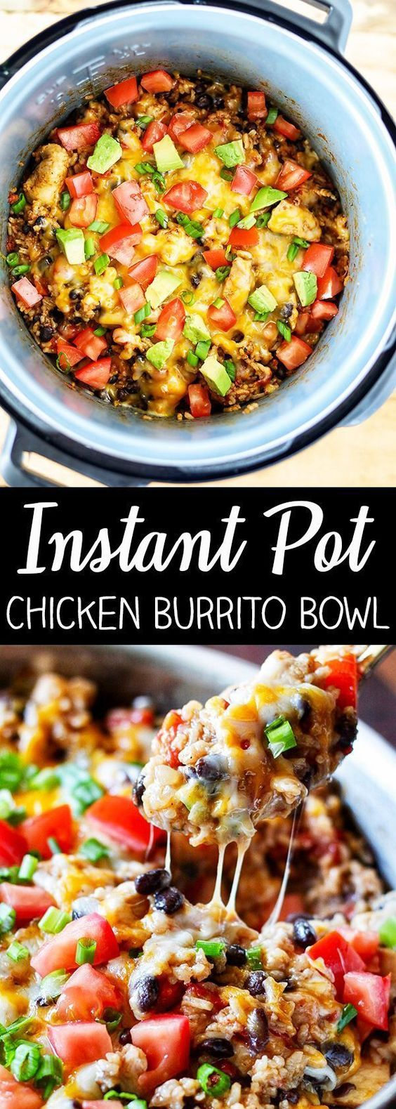 INSTANT POT CHICKEN BURRITO BOWL