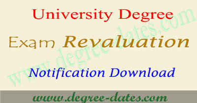AU degree revaluation recounting fee last date application form 2017
