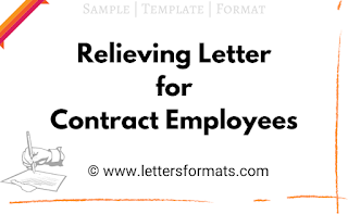 sample relieving letter for contract employees