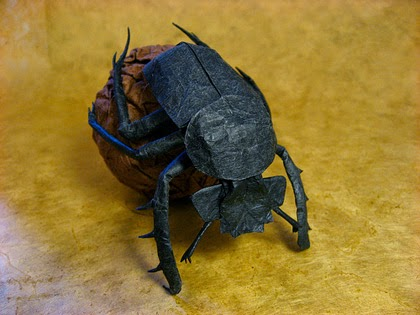 How to make an easy origami beetle: page 1 | 315x420