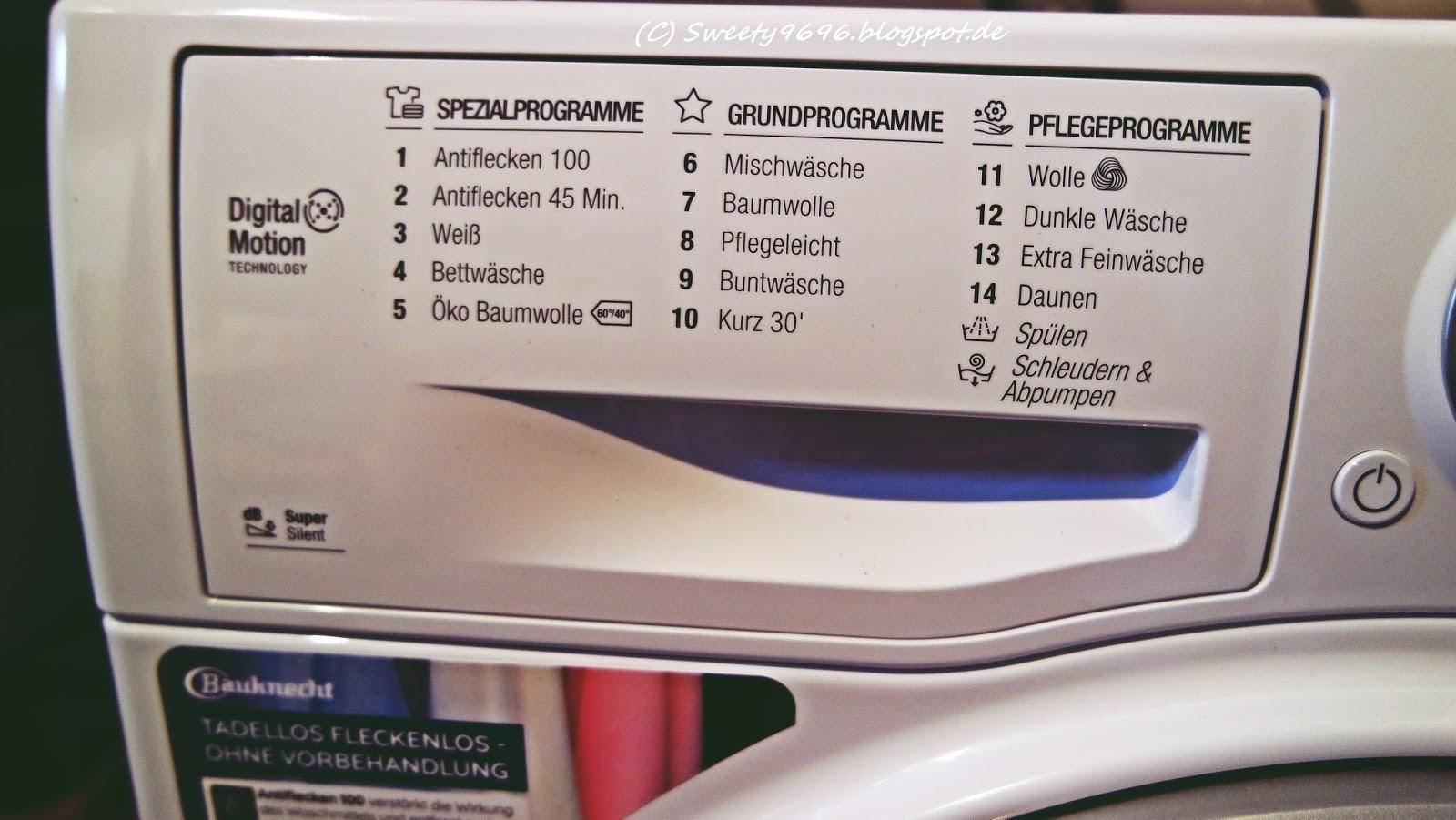 sweety s unzensierte wahrheit ber produkttests f r euch getestet bauknecht waschmaschine. Black Bedroom Furniture Sets. Home Design Ideas