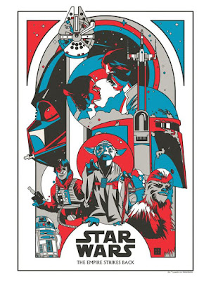 "Star Wars: The Empire Strikes Back 38th Anniversary ""Energy Binds Us"" Screen Print by Danny Haas x Dark Ink Art"