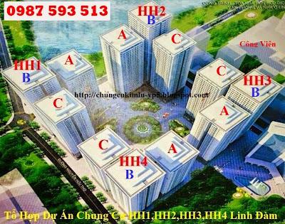 Tổng quan dự án hh1 hh2 hh3 hh4 Linh Đàm