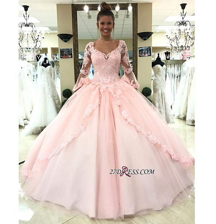 https://www.27dress.com/p/sleeve-pink-princess-lace-long-evening-dress-107880.html