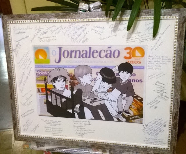 O Jornalecão ganha quadro comemorativo ao 30° aniversário