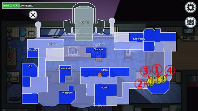 Specimen Room(標本室)のタスク一覧マップ説明画像