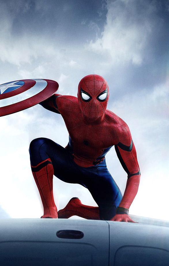captain america civil war spider man hd images