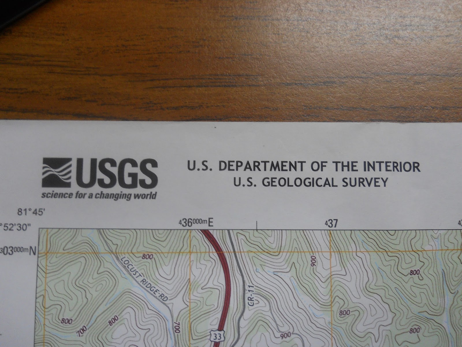 on the top left of all 7 5 minute maps produced by the usgs is the name of the organization responsible for creating the map in this case it is the usgs
