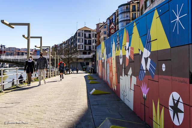 Mural Supervivientes Violencia Machista, por Ruth Juan - Muelle de la Merced, Bilbao por El Guisante Verde Project