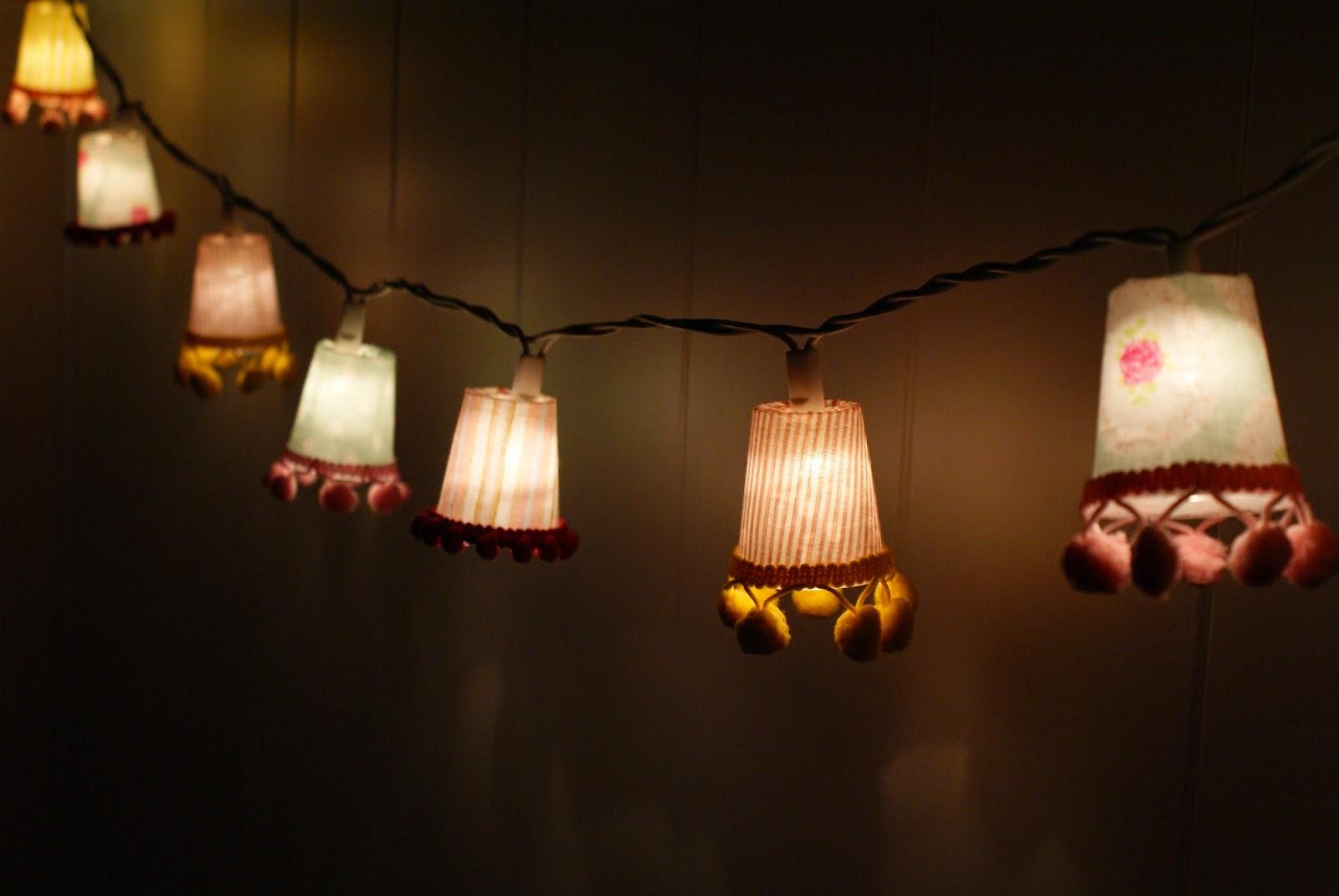 bunt & selbstgemacht: diy: lampenschirmchen für lichterkette